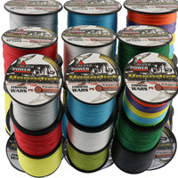super longline fishing line 1000M 8strands 6LB 300LB strong fishing cords pe braided lines fishing 0.1mm 1.0mm fishing rope