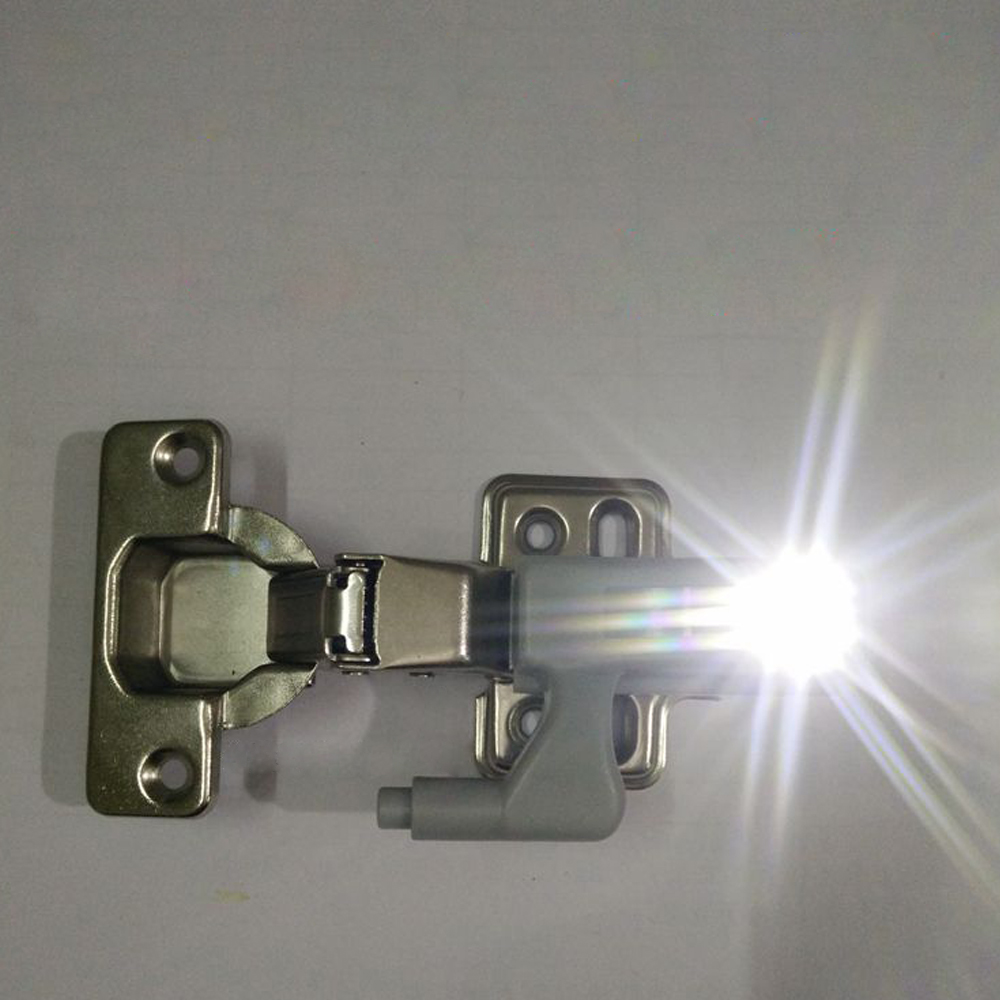 10pcs Universal Cabinet Cupboard Hinge White LED Light Wardrobe System Modern Home Kitchen Autoswitch Night Lamp