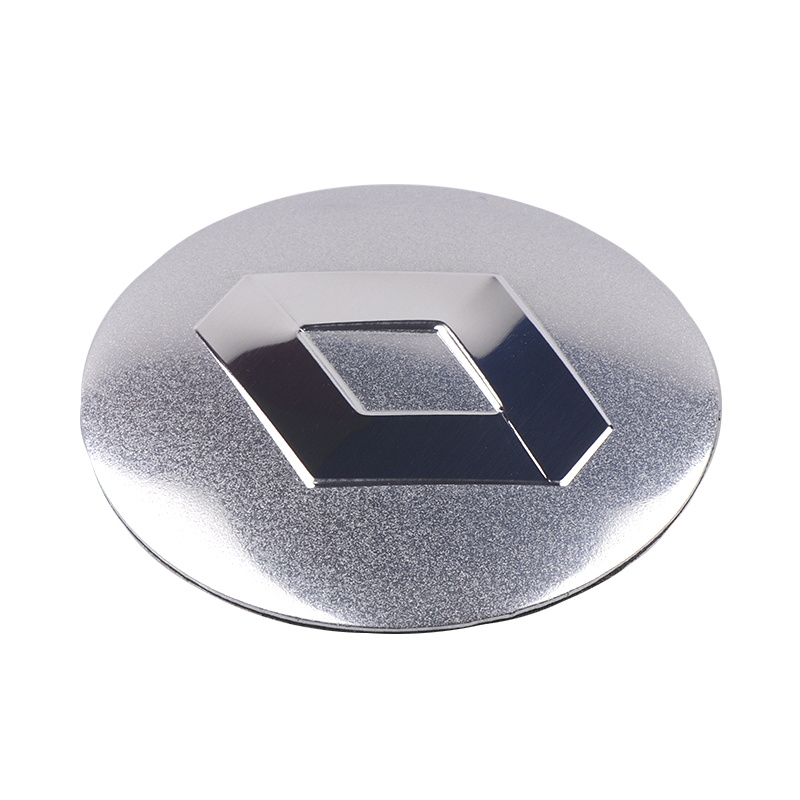 Image 3 - 4pcs Car Styling Car Wheel Tire Center Sticker For Renault 2 Button Clio Scenic Megane Duster Sandero Captur Twingo Accessories-in Car Stickers from Automobiles & Motorcycles