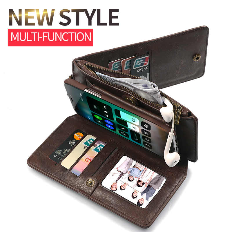 Musubo خمر الجلود حقيبة لهاتف أي فون 6 زائد Xs ماكس XR متعددة الوظائف 2 في 1 محفظة الغلاف الخلفي ل iphone x 8 زائد 7 6s حالات