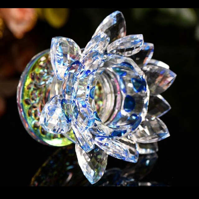 Colorful Feng Shui Quartz Lotus Crystal
