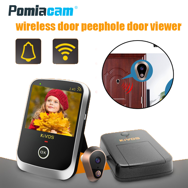 """KDB307A 3.5 """"LCD Door Eye Peephole Door Viewer Wireless Video Doorbell Wide Angle Lens Camera Monitor For Home Apartment"""