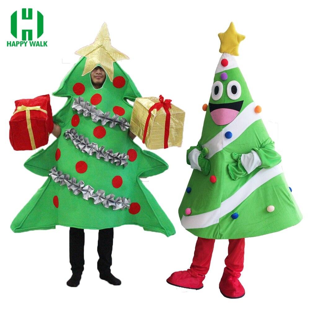 Adulte Arbre De Noël Costume De Mascotte Avec Présent Couvre-chaussures De Noël Fancy Dress Up Cosplay Costumes De Noël Arbre Costume