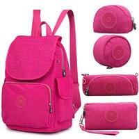 ACEPERCH Casual Nylon Original School Backpack for Teenage Girl Backpack For Laptop Backpack Female Mochila Feminina