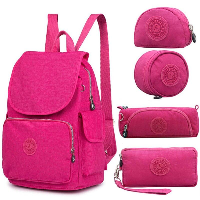 ACEPERCH décontracté Nylon Original école sac à dos pour adolescente sac à dos pour ordinateur portable sac à dos femme Mochila Feminina