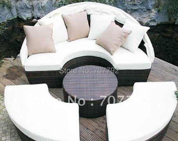 Hot sale SG 12020C Elegant black rattan deck chair ...