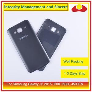 Image 5 - 50 pçs/lote Para Samsung Galaxy J5 2015 J500 J500F J500FN J500H Habitação Porta Da Bateria Voltar Tampa Traseira Caso Shell Chassis Substituição