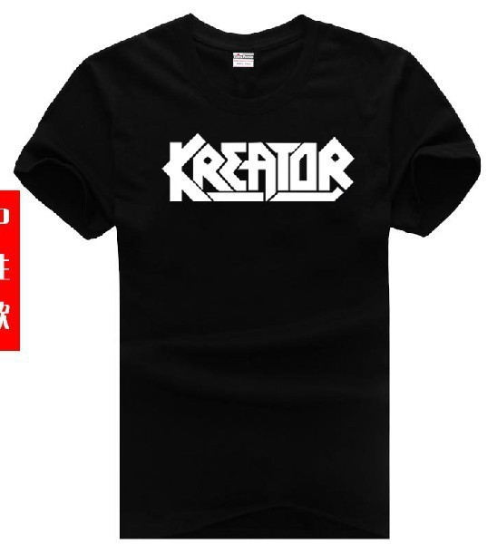 new 2017 free shipping cotton Multicolor available sitcoms kreator plus size man men male short-sleeve T-shirt