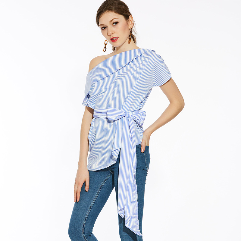 HTB1R0ylSFXXXXXTXFXXq6xXFXXXM - Summer office blouses Off Shoulder Women slash neck