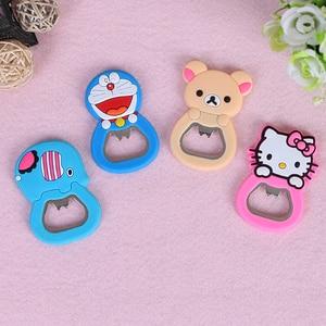 Image 5 - MeiJiaG PVC Soft Plastic Cartoon Bottle Opener Creative Cartoon Beer Opener Multi functional Magnetic Opener Fridge Sticker