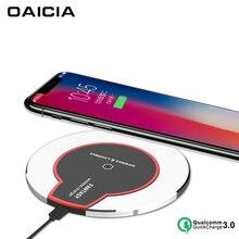 Беспроводное зарядное устройство Qi для iPhone X Xs MAX XR 8 plus быстрая Беспроводная зарядка QC3.0 для samsung S8 S9 Plus Note 9 8 зарядное устройство для телефона