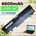 Negro 9 celdas 6600 mah batería para asus eee pc 1001ha 1005 p 1001px 1001pq 1005 1005ha al31-1005 al32-1005 ml32-1005 pl32-1005