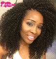 7A Mongolian Kinky Curly Hair With Closure 4pc Lot 100% Human Hair Bundles With Lace Closures Afro Kinky Curly Hair With Closure