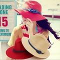 Mujeres del Estilo CALIENTE freeshipping adultos niñas gafas de sol de moda uv proteger sombrero de playa de verano de color beige rojo