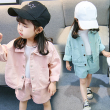 Girls Clothes Set Toddler 2pcs Single-breasted Loose Jacket +Short Pants Infant Costumes Kid Clothing Outfit For 6M-3T