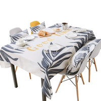 Scandinavian style cloth waterproof tablecloth antifouling anti scalding wash table desk coffee table