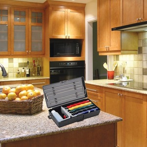 Image 2 - Çelik Apex kenar kötü Lansky kalemtıraş bıçak kalemtıraş Deluxe 5 taşlar bileme sistemi seti ekstra kaba bıçak bileyici seti