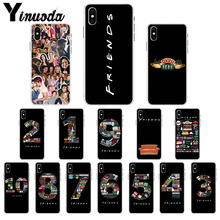 Yinuoda Friends Season TV digital DIY Beautiful Phone Accessories Case for Apple iPhone X XS MAX  8 7 6 6S Plus 5 5S SE XR Cover