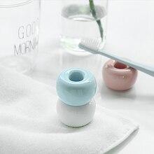 Mini w stylu Vintage ceramiczne szczoteczki do zębów uchwyt porcelana szczotka do zębów stojak organizator do łazienki pierścień