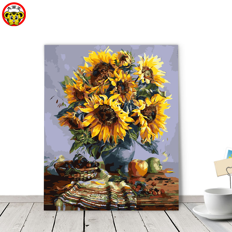 painting by numbers art paint by number Van Gogh Sunflower Continental Fill Color Colored Canvas Highlight Paint Smearing Area Hpainting by numbers art paint by number Van Gogh Sunflower Continental Fill Color Colored Canvas Highlight Paint Smearing Area H