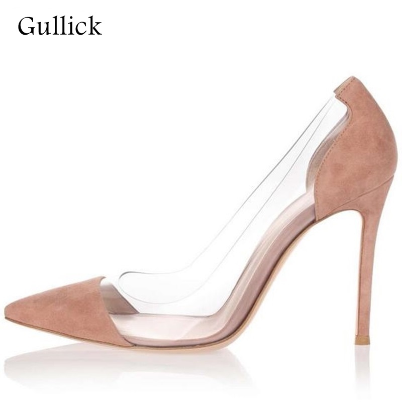 Sexy PVC Transparent High Heel Pump Cap-toe Slip-on Women Dress Shoes Cut-out Thin Heels Lady Party Bride Heels Shoes Real Photo orange pointed toe pump women shoes sexy slip on women pumps real image thin high heels ol pump shoes large size 8 heels