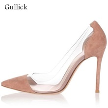 Sexy PVC Transparent High Heel Pump Cap-toe Slip-on Women Dress Shoes Cut-out Thin Heels Lady Party Bride Heels Shoes Real Photo sexy pvc transparent high heel pump cap toe slip on women dress shoes cut out thin heels lady party bride heels shoes real photo