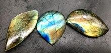 3 stks natuurlijke starlight maanlicht steen minerale kristallen exemplaren labradoriet semi edelsteen sieraden hanger