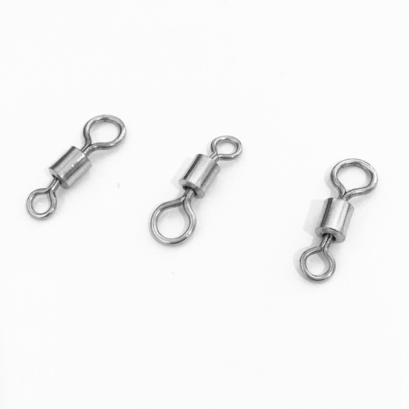 50PCS/LOT Ball Bearing Stainless Steel Fish Connector Rolling Swivels Rig Sea Swivel Accessories Snap Pin LINE FOR Carp Fishing