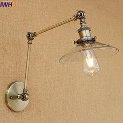 IWHD Loft w stylu amerykańskim przemysłowe lampy ścienne światła szkła żelaza kinkiety ścienne schody sypialnia łazienka światło lampora Pared oprawy