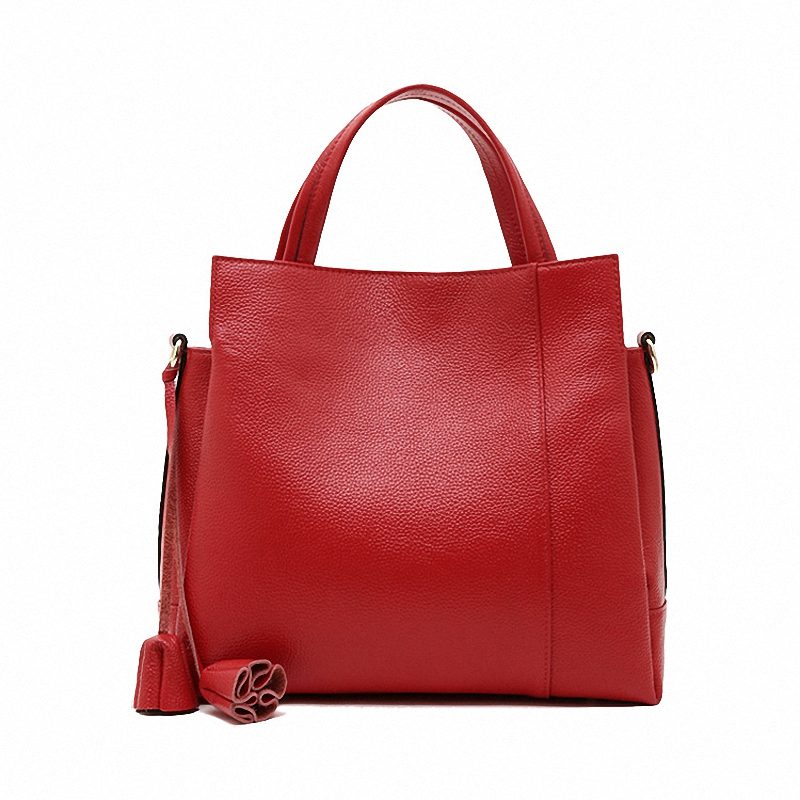 100% Genuine Leather Bags 2016 Fashion Embossed Real Leather Crossbody Bag Womens Shoulder Tote Handbags LY13