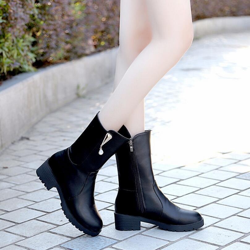 993c9950 Altos Moda Pu Tacones Tobillo Mujeres Primavera Mujer Hebilla Zapatos  Diario Remache Para Otoño Botas L234 ...