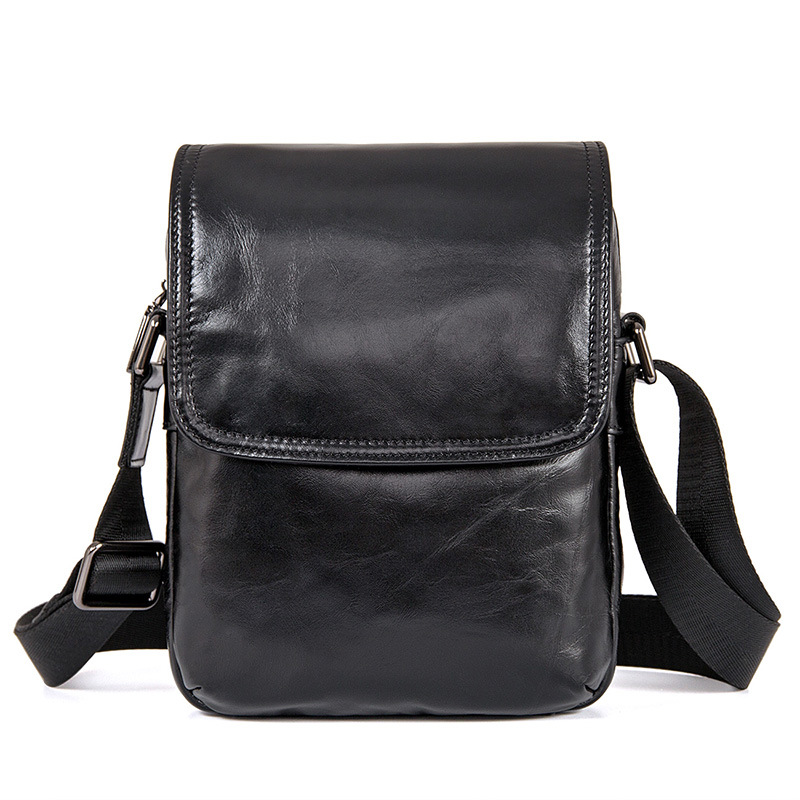 Cow Genuine Leather Messenger Bags Men Travel Business Brand Vintage Black Small Crossbody Shoulder Bag for Man Sacoche Homme