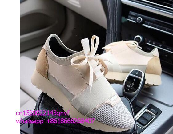 ФОТО 2017 Hot Sale Patchwork Women Casual Shoes Outdoors Fashion Mixed Colors Lace-up Low Cut Mesh Race Trainer Shoes