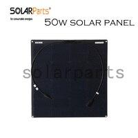 BOGUANG 1 pcs 18 V 50 w noir flexible panneau solaire cellule solaire module pour voiture yacht maison Toit Puissance station 12 v batterie chargeur