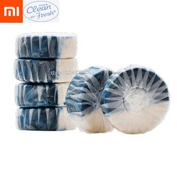 12Pcs Xiaomi Mijia Disposable Magic Automatic Flush Toilet Cleaner Helper Fragrant Ball Blue Bubble Cleaning Deodorizes Clean Туалет