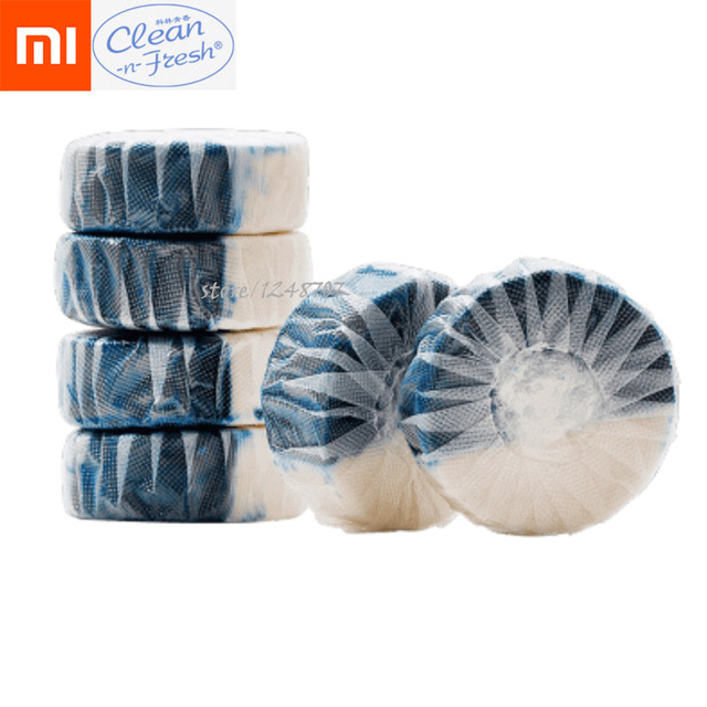 12Pcs Xiaomi Mijia Disposable Magic Automatic Flush Toilet Cleaner Helper Fragrant Ball Blue Bubble Cleaning Deodorizes Clean