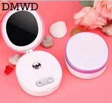 DMWD MINI Face Sprayer Nano Mister Ultrasonic Humidifier USB Facial Hair Nebulizer Steamer Hydrating Skin Care with mirror lamp