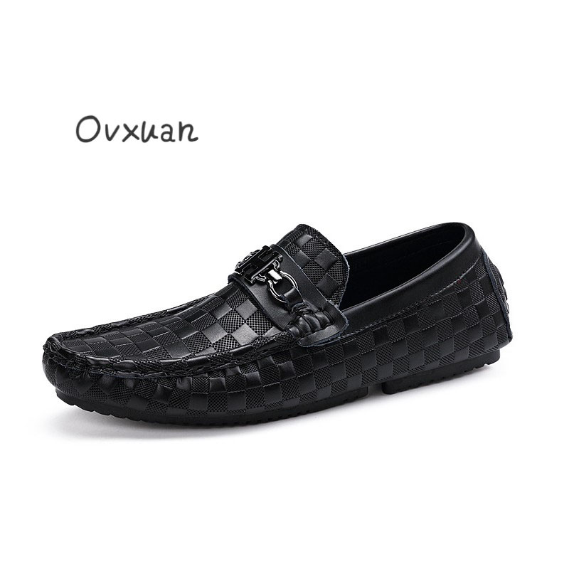 Ovxuan Genuine Leather Men Shoes Casual Slip On Party Dress Male ... 6d3067604d11