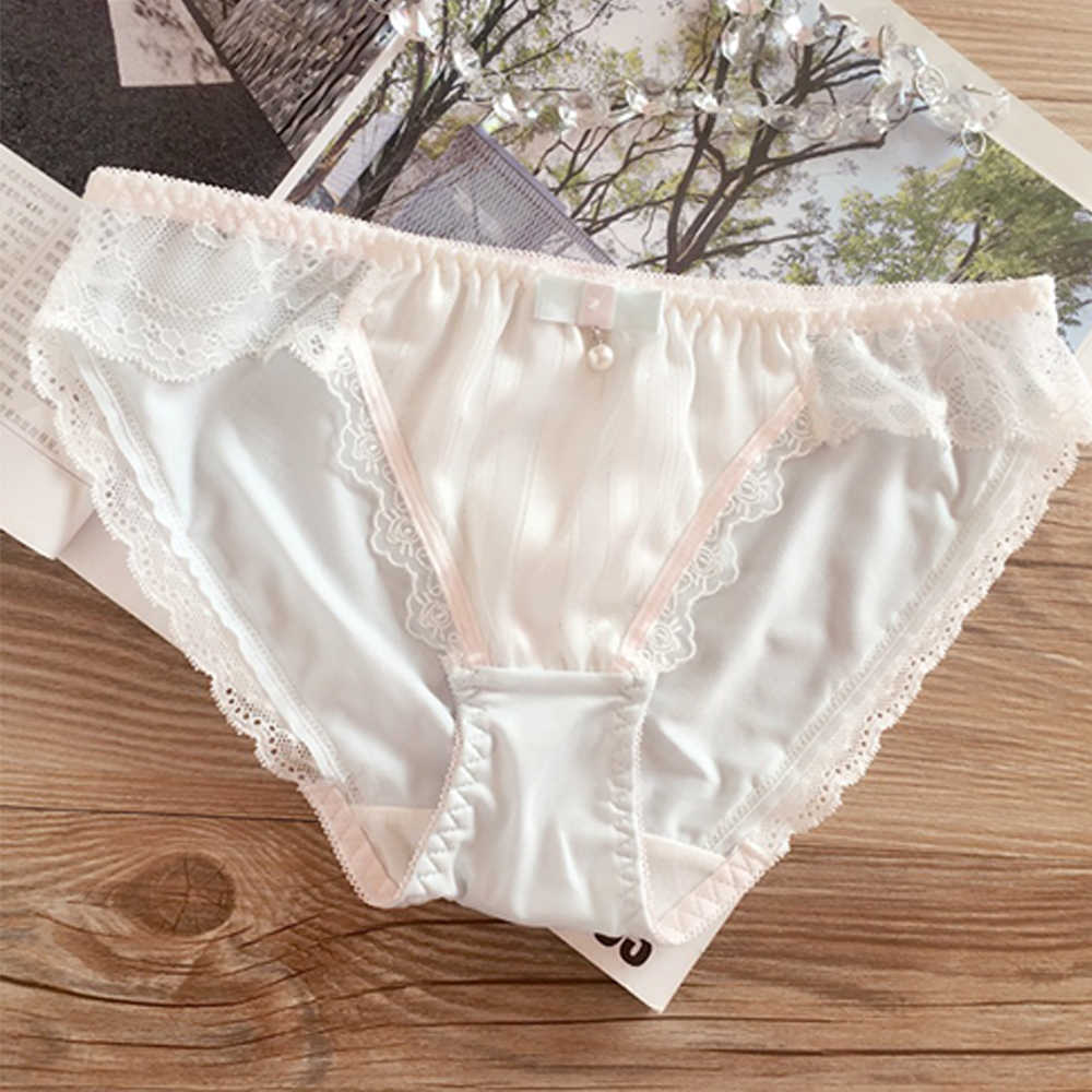 3ccc58522471 ... Hot Women Briefs Sweet Milk Silk Underwear Low Waist Lace Solid Color  Soft Ladies Panties Lovely ...