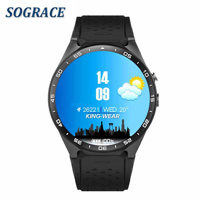 KW88 Smart Watch relogio 1.39 Inch Screen MTK6580 Quad Core 1.3GHZ Cell Phone 3G Watch 2.0 Mega Pixel Heart Rate Monitor imacwear sparta m7 1 54 inch touch screen 3g smart watch phone ip67