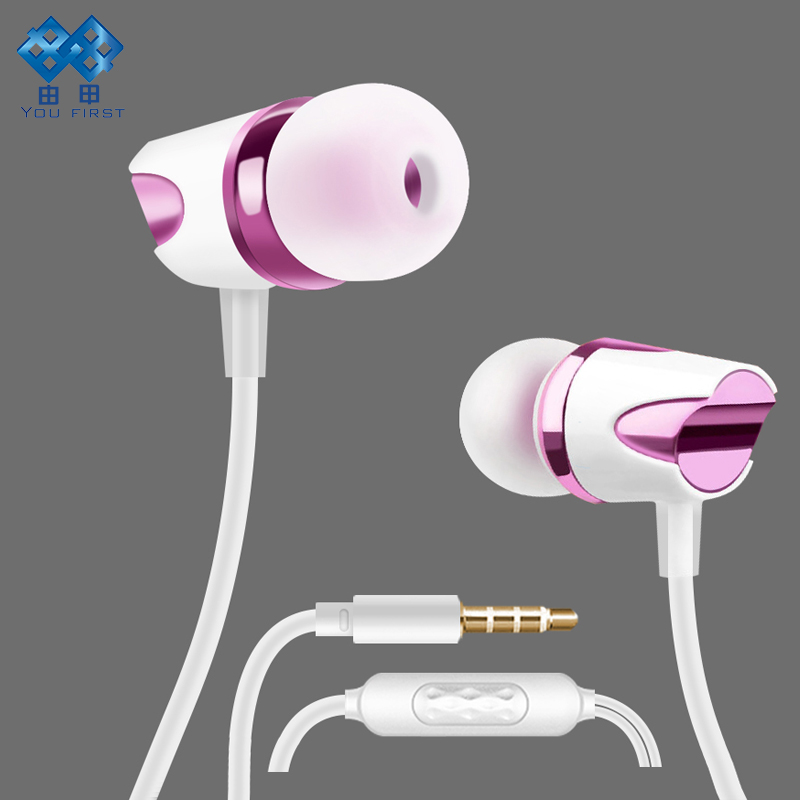 YOU FIRST 3.5mm Wired Earphone In Ear Headset Sport Handsfree Earphones With Microphone Earphones Wired Earbuds AUX For Phone cbaooo stereo earphone wired in ear headset ear hook earbuds headphone with microphone noise canceling earphones for phone pc
