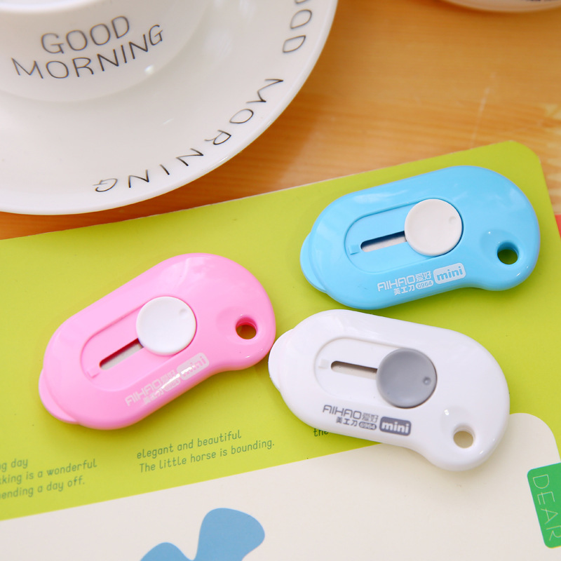 3pcs/lot Deli Small Mini Letter Opener Office Utility Knife Box Cutter Safety Crafting Tools And Supplies 8002