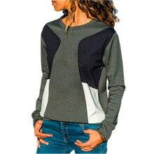 2018 Autumn fashion hot selling USA and Europian women O-neck long sleeves sports coat TOPS