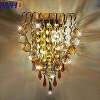 Iwhd K9 crystal led светильник настенный современный Утюг бра лампа дома Освещение светильники Светильник на стене Спальня arandela