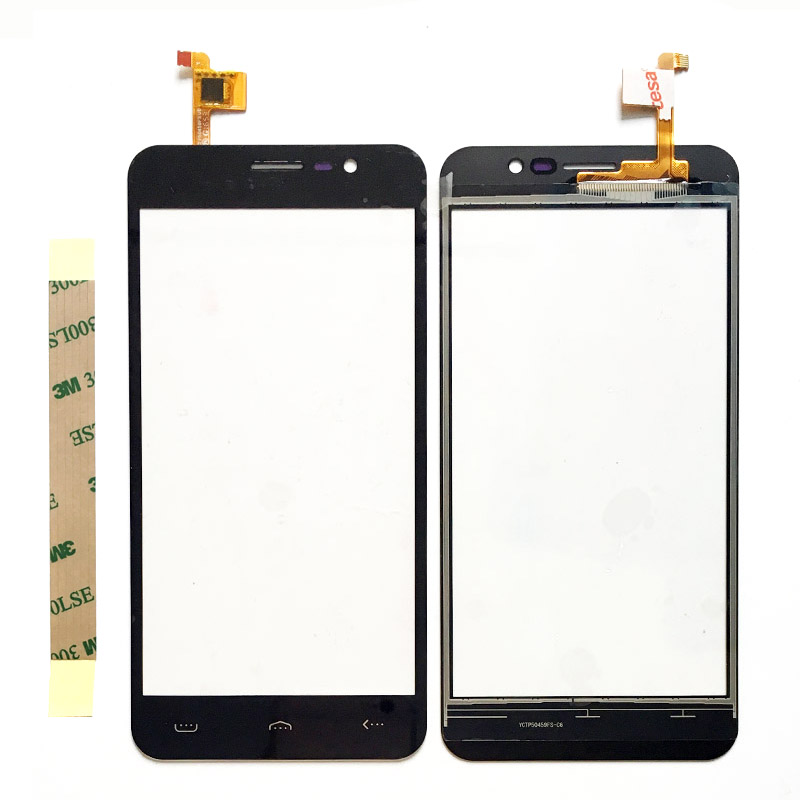 5.0'' Mobile Phone Touch Screen Digitizer For Homtom HT16 TouchScreen Panel Sensor Glass Replacement+3M Tape