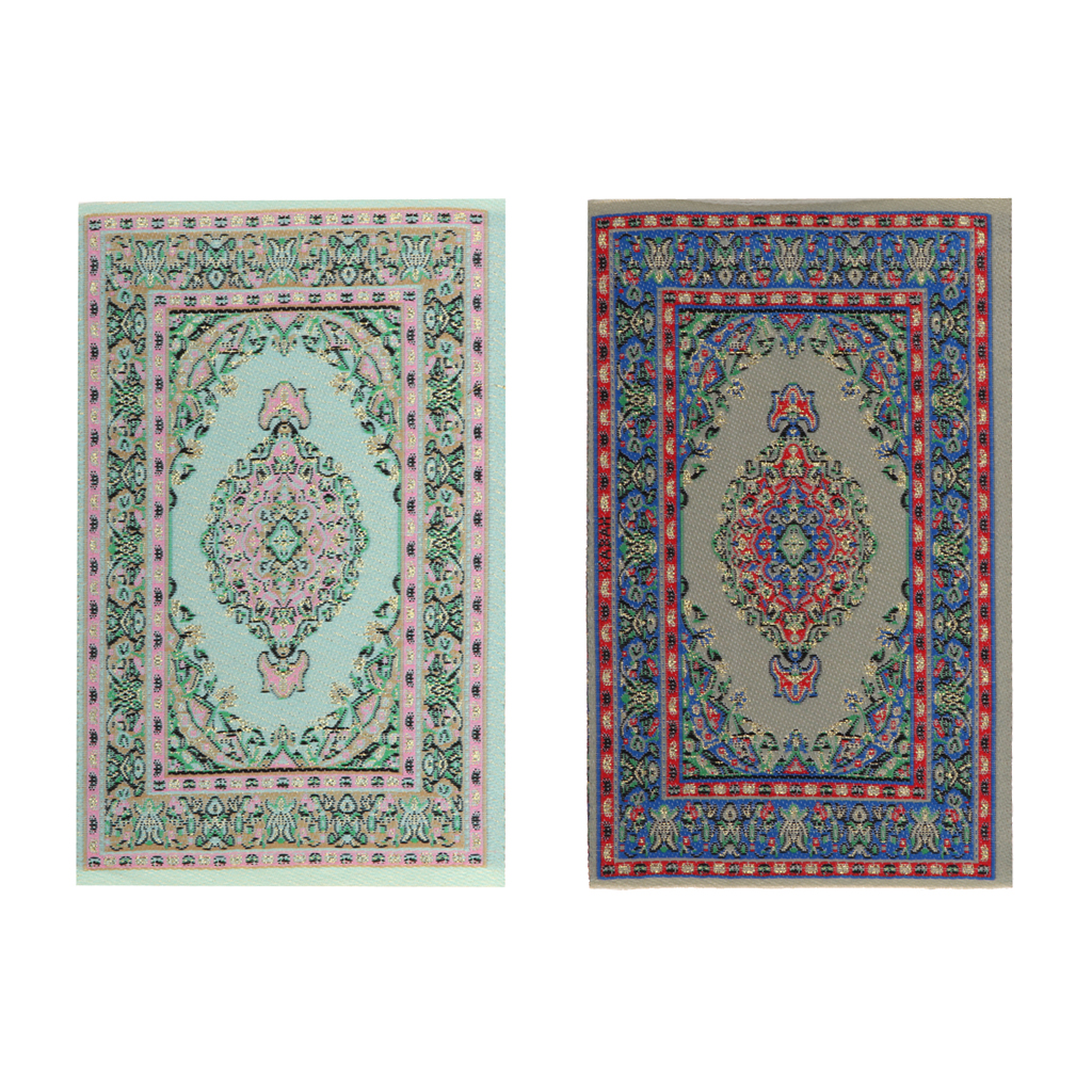 MagiDeal 1//12 Dollhouse Miniature Rug Turkish Style Carpet Floor Coverings
