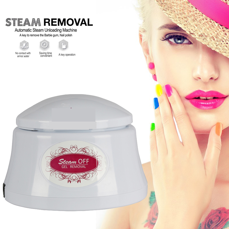 Nail Gel Polish Remover&FREE SHIPPING Machine Steam Off Gel Removal Nail Steamer For Home Nail Salon Pro Nail Art Tools 3d 12 candy colors glass fragments shape nail art sequins decals diy beauty salon tip free shipping