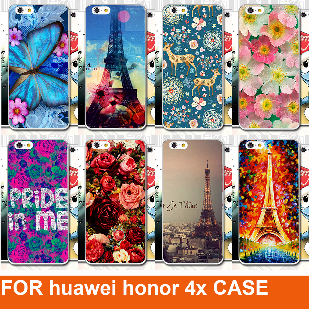 newest a5ca8 f773a US $1.8 |Aliexpress.com : Buy New Arrival Classical Pattern design  Butterfly Rose Tiger Painting Case hot sale diy case for Huawei Honor 4x  from ...
