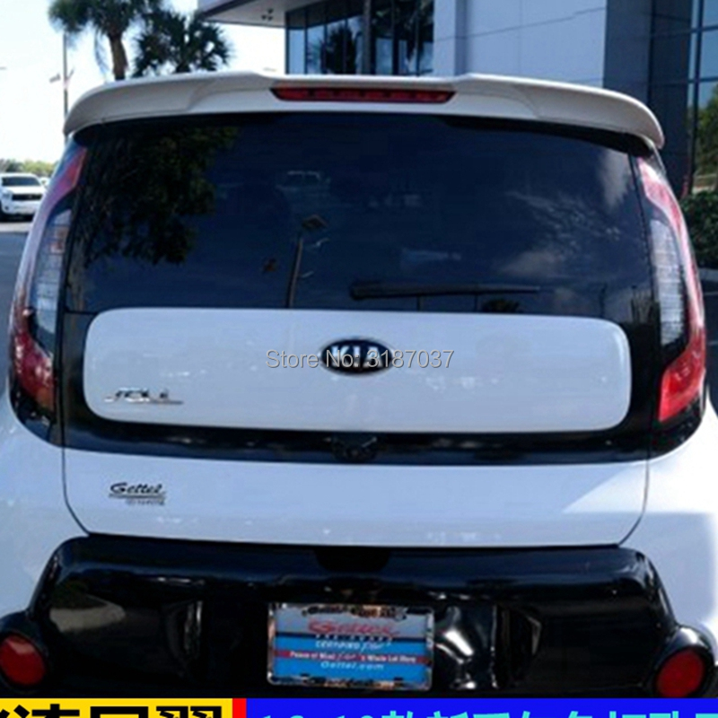 Kia Soul Accessories >> Us 19 52 17 Off Accessories For Kia Soul Spoiler 2010 2018 Abs Plastic Unpainted Color Rear Roof Spoiler Wing Trunk Lip Boot Cover Car Styling In