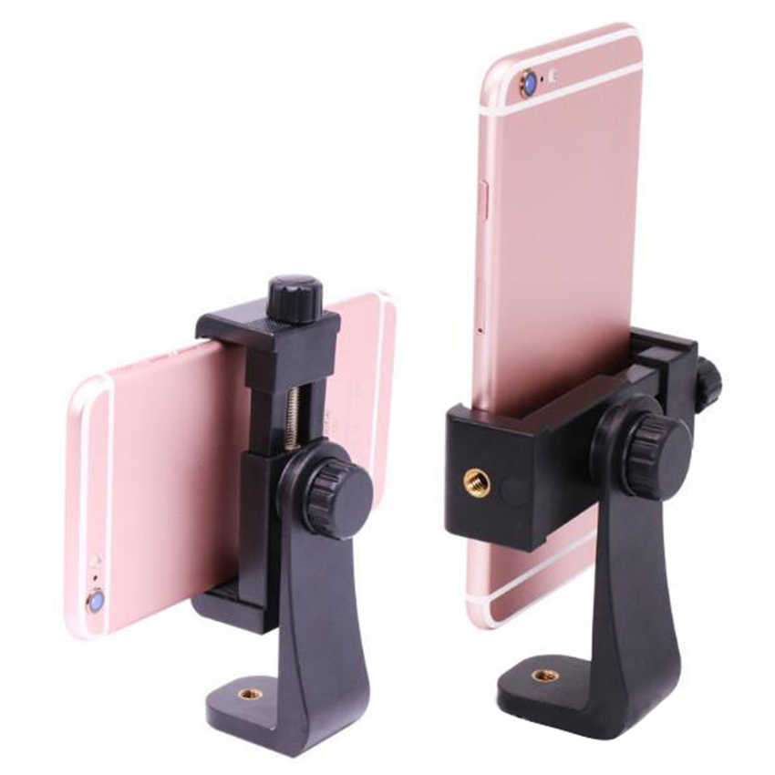 360度回転三脚マウントホルダー携帯電話スタンドブラケットクリップマウントブラケットアダプタ用携帯電話スマートフォン